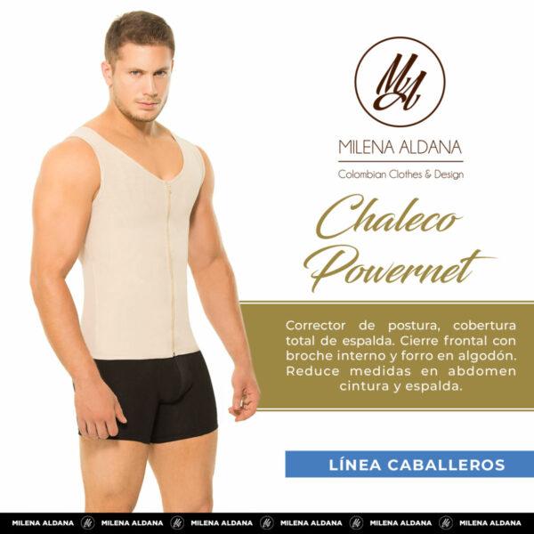 Línea Caballeros - Chaleco Powernet - Milena Aldana