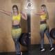 Leggins Deportivos de Suplex Gris Amarillo - Milena Aldana
