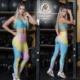 Leggins Deportivos de Suplex Mozaico Azul Amarillo - Milena Aldana
