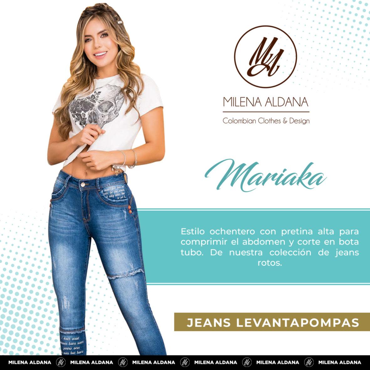 Jeans Pushup Mariaka - Milena Aldana