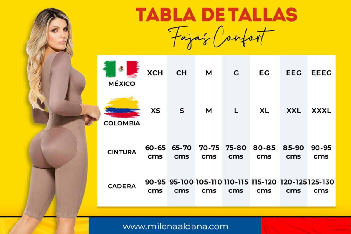 Tallas Fajas Confort - Milena Aldana