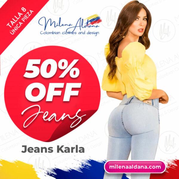 Jeans Karla - Últimas Piezas 50% off - Milena Aldana
