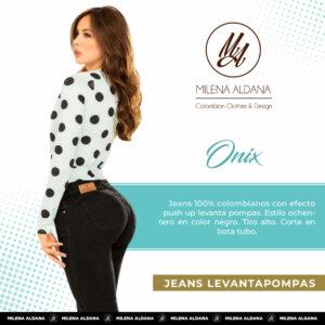 Jeans Colombianos Pushup Levantapompas - Onix - Milena Aldana