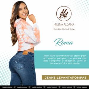 Jeans Colombianos Pushup Levantapompas - Roma - Milena Aldana