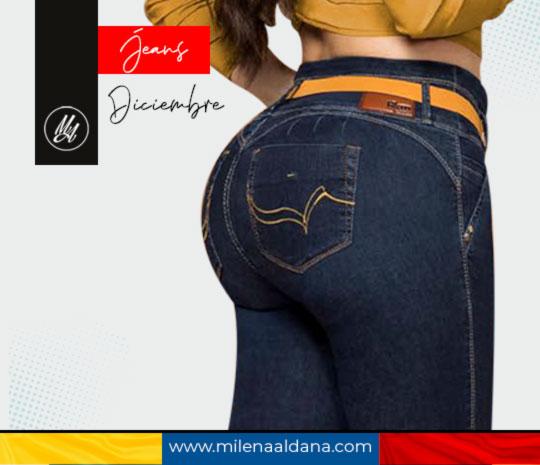 Colección Diciembre 2020 Jeans Colombianos Levantapompa - Milena Aldana
