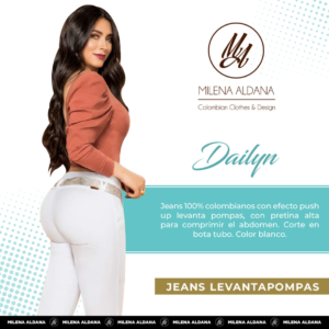 Jeans Colombianos Pushup Levantapompas - Dailyn - Milena Aldana