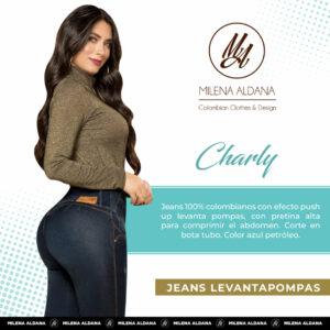 Jeans Colombianos Pushup Levantapompas - Charly - Milena Aldana