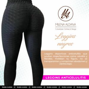 Leggins Deportivos de Suplex Negros - Milena Aldana