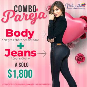 Combo Pareja - Milena Aldana Jeans Colombianos Levantapompas