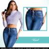 Jeans Colombianos Pushup Levantapompas - Kanit - Milena Aldana