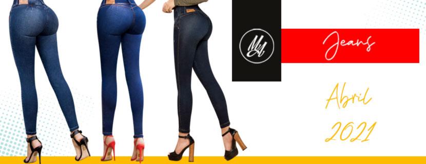 Colección Abril 2021 Jeans Colombianos Levantapompa - Milena Aldana