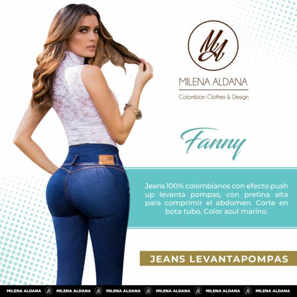 Jeans Colombianos Pushup Levantapompas - Fanny - Milena Aldana