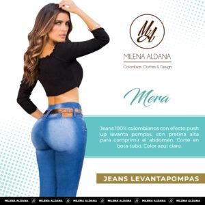 Jeans Colombianos Pushup Levantapompas - Mera - Milena Aldana