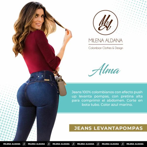 Jeans Colombianos Pushup Levantapompas - Alma - Milena Aldana
