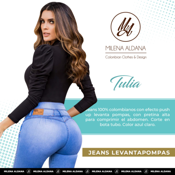 Jeans Colombianos Pushup Levantapompas - Tulia - Milena Aldana