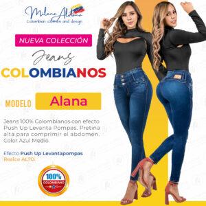 Jeans Colombianos Pushup Levantapompas - Alana - Milena Aldana