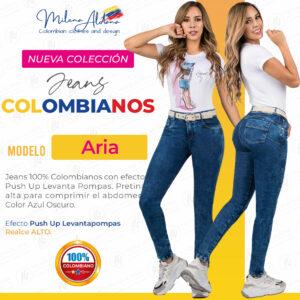 Jeans Colombianos Pushup Levantapompas - Aria - Milena Aldana