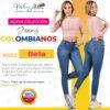 Jeans Colombianos Pushup Levantapompas - Bella - Milena Aldana