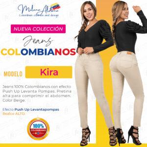 Jeans Colombianos Pushup Levantapompas - Kira - Milena Aldana