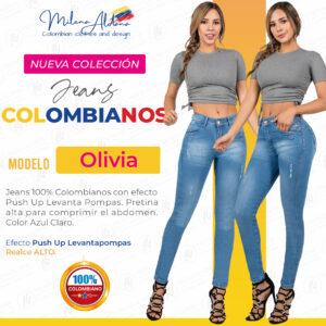Jeans Colombianos Pushup Levantapompas - Olivia - Milena Aldana